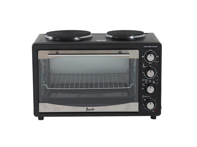 Avanti Black Toaster Oven 2 Burners Convection Functions