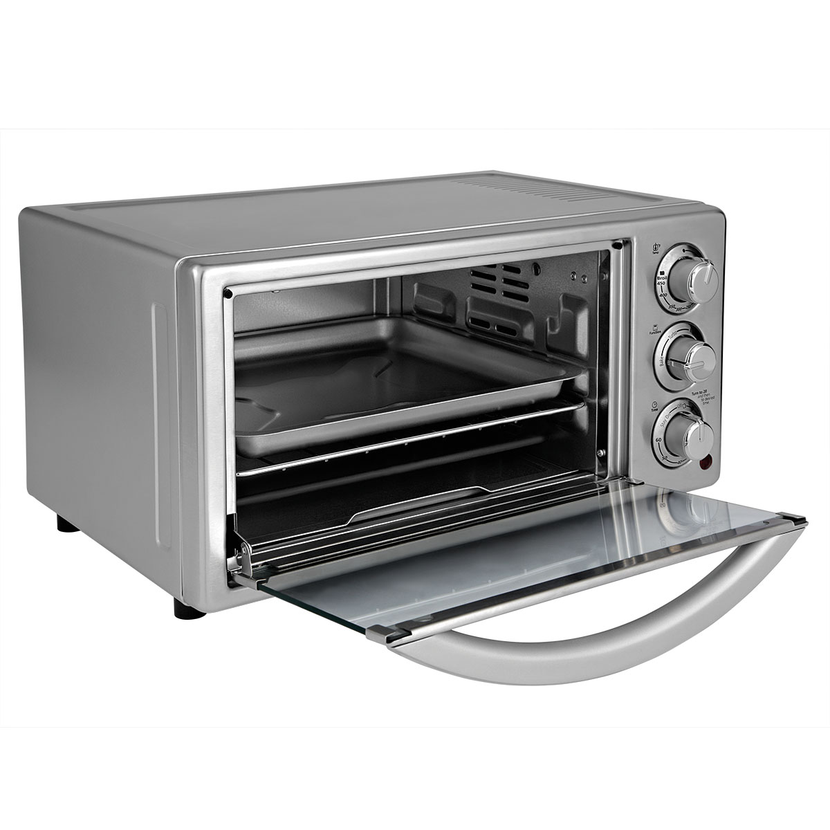 Oster 6 Slice Silver Toaster Oven