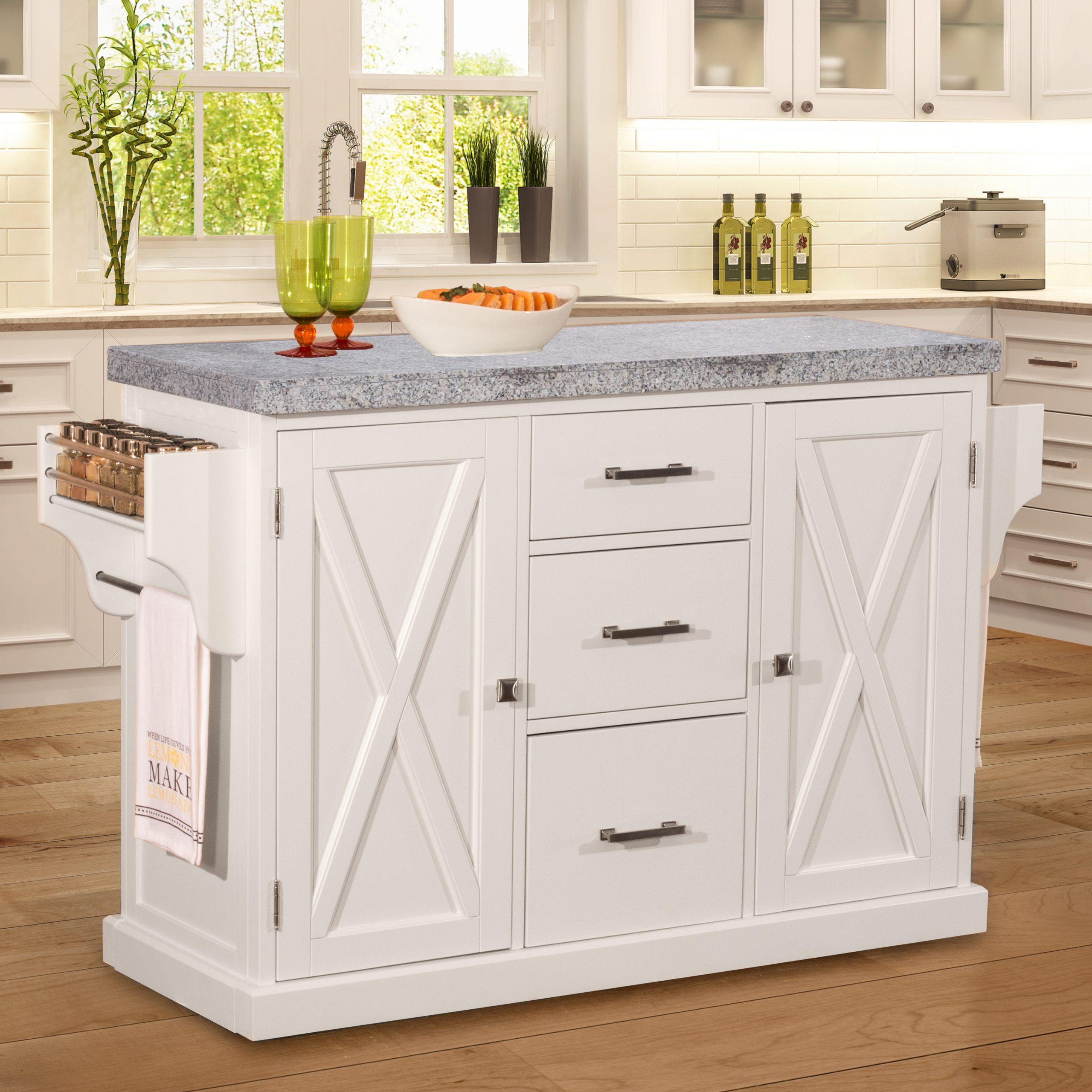 Brigham White Kitchen Island Granite Top Standard Distributors Limited
