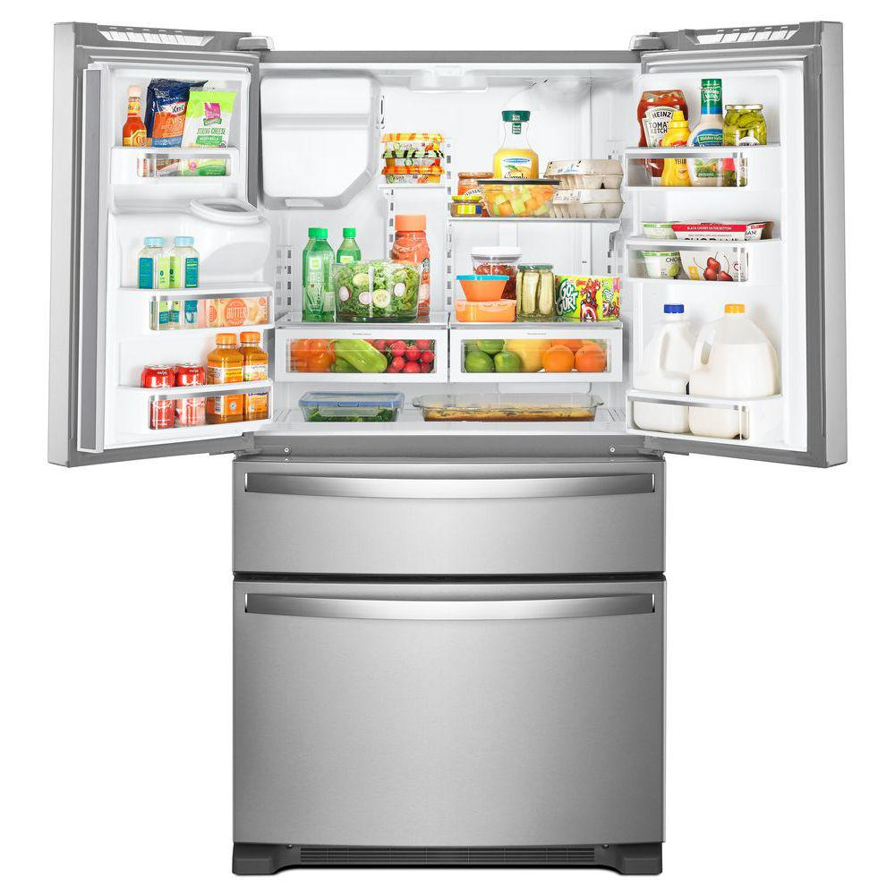 Whirlpool 24.5 Cft Stainless Steel Four Door Refrigerator